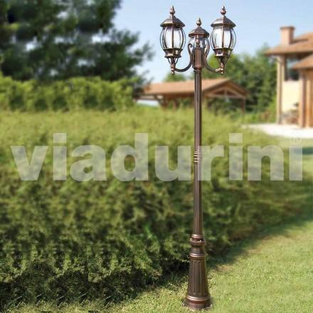 Venkovní osvětlovací sloupek z hliníku vyrobený v Itálii, Anika