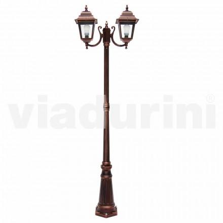 Venkovní svítilny s dvěma světly vyrobené z hliníku, vyrobené v Itálii, Aquilina
