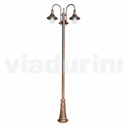 Venkovní sloupová lampa z hliníku vyrobená v Itálii, Anusca