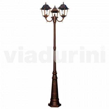 Klasická venkovní tříplášťová lampa, vyrobená v Itálii, Aquilina