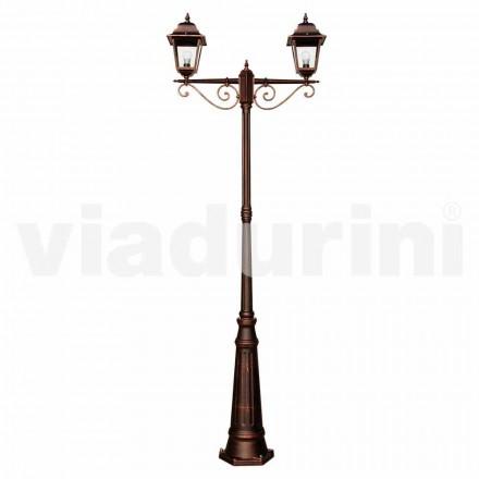 Venkovní klasická lampa vyrobená z hliníku, vyrobená v Itálii, Aquilina