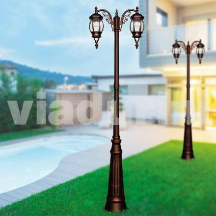 Klasická venkovní sloupová lampa vyrobená z tlakově litého hliníku, vyrobená z Itálie, Anika