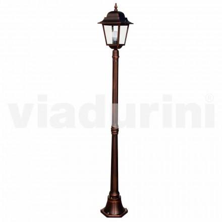 Klasická zahradní lampa vyrobená z hliníku, vyrobená v Itálii, Aquilina