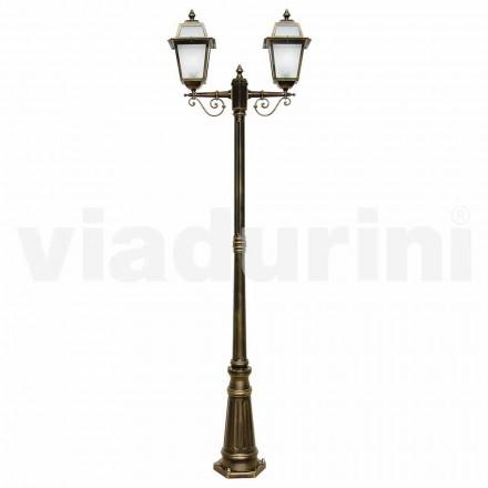 Venkovní osvětlovací sloupek z hliníku vyrobený v Itálii, Kristel