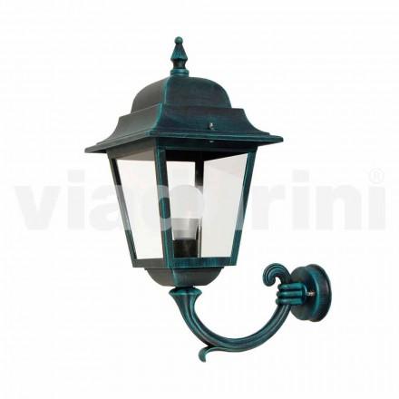 Zahradní nástěnná lampa vyrobená z hliníku, vyrobená v Itálii, Aquilina