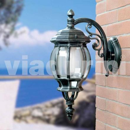 Zahradní nástěnné svítidlo vyrobené z hliníku, vyrobené v Itálii, Anika