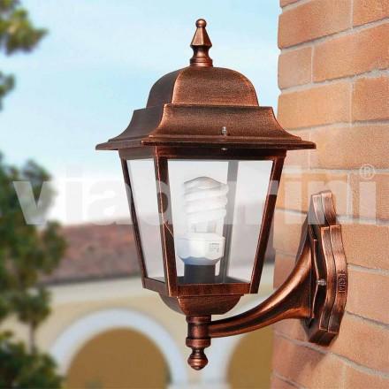 Zahradní nástěnná lampa z hliníku, vyrobená v Itálii, Aquilina