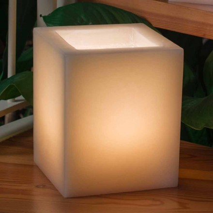 Voňavá vosková lucerna poškrábaný efekt se svíčkou vyrobenou v Itálii - Famme