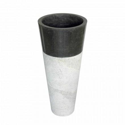 Cone sloupec umyvadlo v černé barvě přírodního kamene Raja