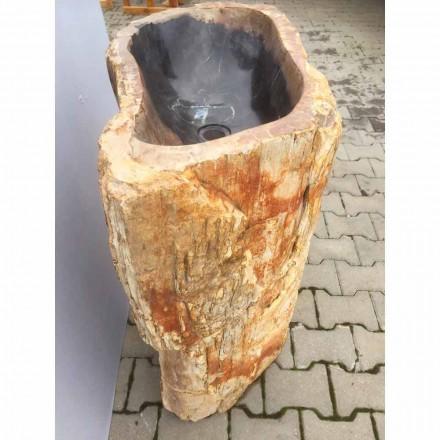 Návrh umyvadlového podstavce z přírodního kamene Ley, ručně vyrobený