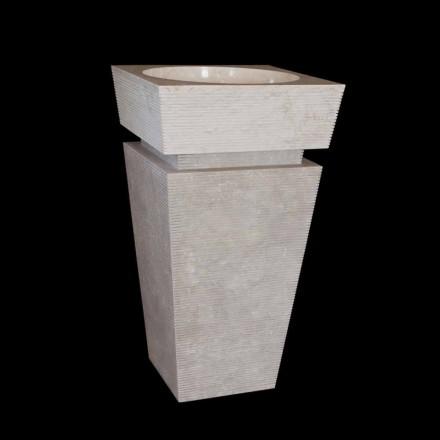 Návrh umyvadlového podstavce v bílém Sire mramoru, jedinečný kus