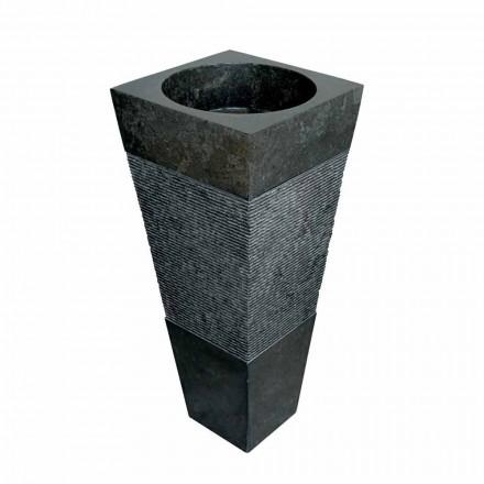 pyramidy sloupec umyvadlo v černé barvě přírodního kamene Nias