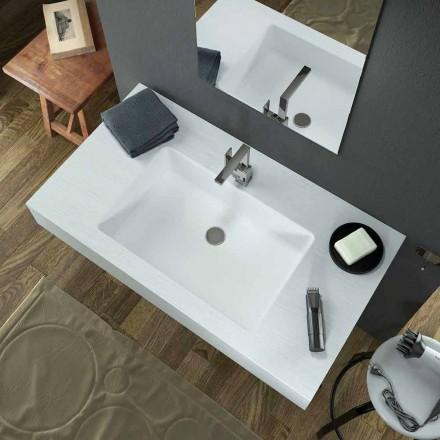 Moderní závěsné umyvadlo v Texolidu vyrobené v Itálii, Rufina