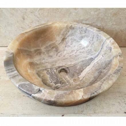 Umývadlo v přírodním onyxovém kameni Ana, ručně vyrobené