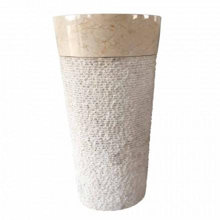 Siro bílé umyvadlo z přírodního kamene, unikátní kus