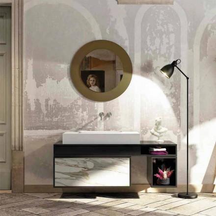 Koupelnová deska s centrálně integrovaným umyvadlem v Luxolid Voghera
