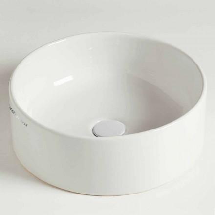 Moderní kruhové umyvadlo v keramice vyrobené v Itálii - Rotolino