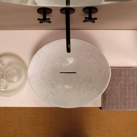 Bílé keramické hadříkové desky s umyvadlem z Itálie