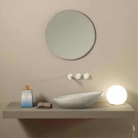 Bílý keramický pytónový design umyvadlo vyrobené v Itálii Lesklý