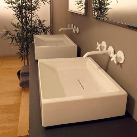 Návrh pravoúhlého keramického umyvadla vyrobeného v Itálii Dalia