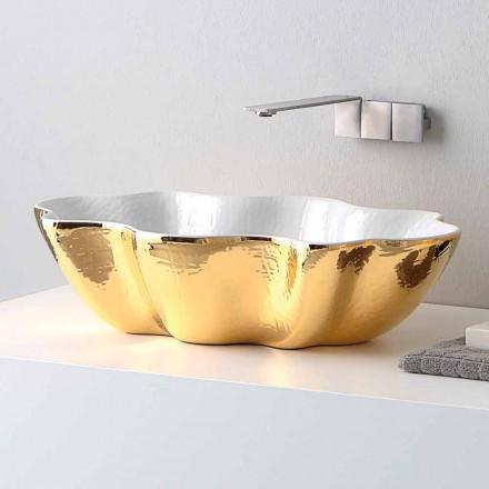Moderní keramické umyvadlo vyrobené v Itálii Cube
