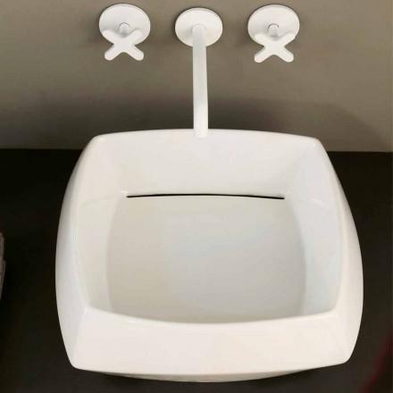 Umývadlo v bílém keramickém provedení vyrobené v Itálii Simon