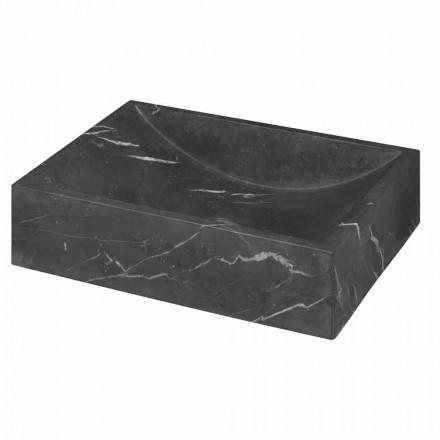 Čtvercový umyvadlo z černé mramorové mramorové mramorové desky v Itálii - Bernini