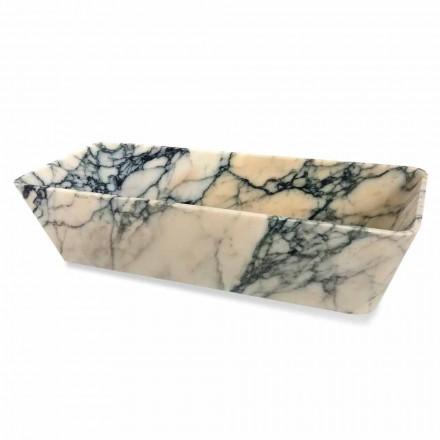 Umyvadlo na desku v designu Paonazzo Marble Squared Made in Italy - Karpa