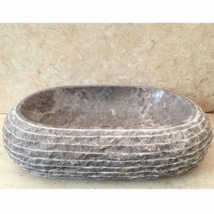Ivy šedé kamenné koupelnové umyvadlo, jedinečný design