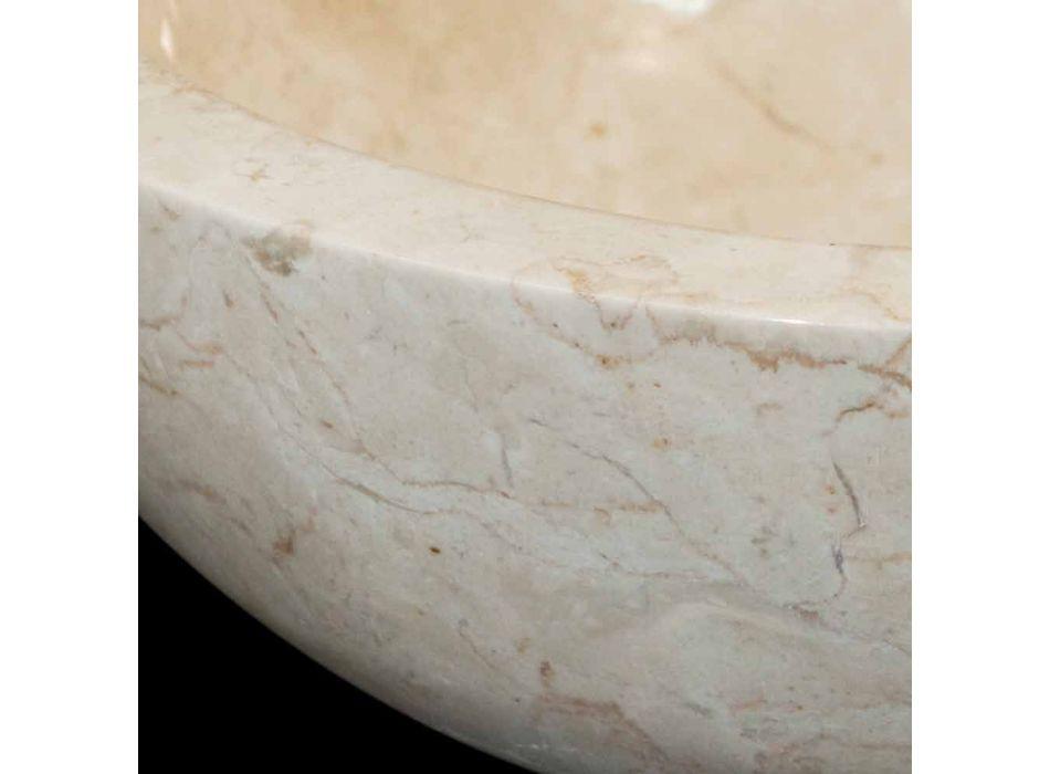 Levi bílý umývadlo z přírodního kamene, unikátní kus