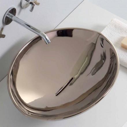 Moderní keramické umývadlo v platině vyrobené v Itálii Zvířata