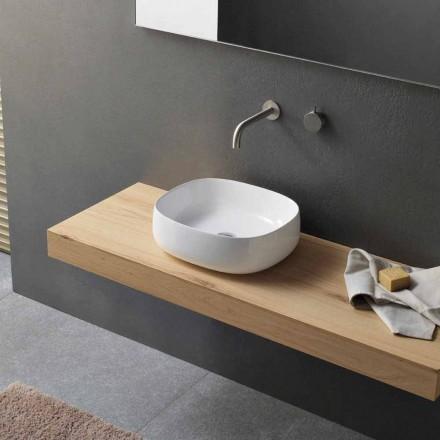 Umyvadlo na desku v bílém keramickém moderním oválném designu - Tune3