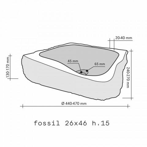 Umyvadlo Podpora Piece Dřevěná Fossil Goa