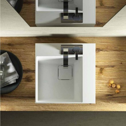 Moderní design umyvadlo na desku s deskou na desku vyrobeno v Itálii, Lavis