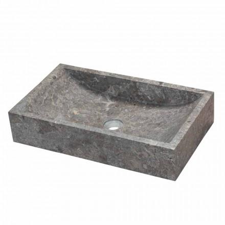 Pultová obdélníkový podpora v šedé mramorové Satun