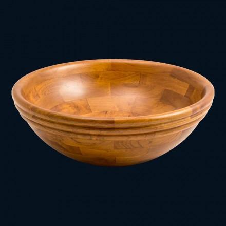 Umyvadlo kulaté podpora v Kobe teakového dřeva, z jednoho kusu