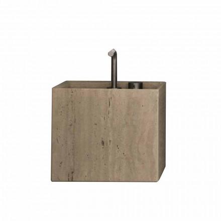 Koupelnové umyvadlo v moderním čtvercovém designu s kamenem - Farartlav2