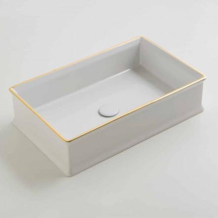 Navrhněte keramické umývadlo s zlatým rámečkem vyrobené v Itálii Debora