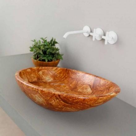 Designové keramické čalouněné umyvadlo vyrobené v Itálii Glossy