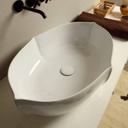 Návrh umyvadla v bílém keramickém provedení v Itálii Oscar