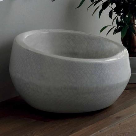 Umývadlo v pythonové keramice vyrobené v Itálii Elisa