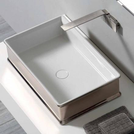 Moderní deskový keramický umyvadlo vyrobené v Itálii Debora