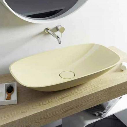 Moderní design umyvadlo na desku Taormina Big, vyrobené v Itálii