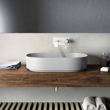 Moderní design umyvadlo na pracovní desce vyrobené ze 100% v Itálii, Formicola