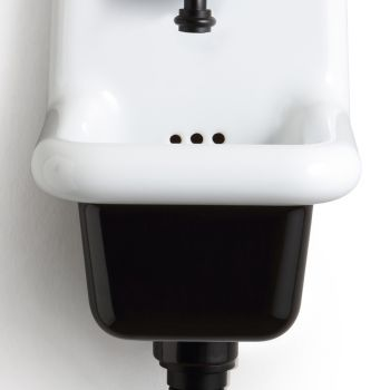 Volně stojící koupelnové umyvadlo v bílé a barevné keramice 26 cm - Jordan