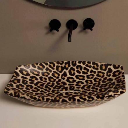 Gelové keramické umyvadlo na desku vyrobené v Itálii Laurou