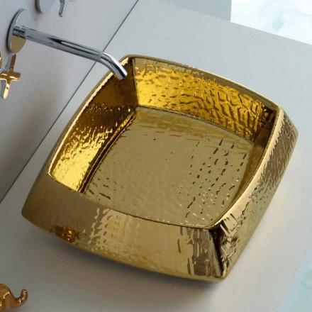 Moderní zlatá keramická umývadlo vyrobená v Itálii Simon