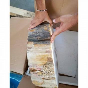 Dřevěné umyvadlo Fossil Counter Goa z jednoho kusu