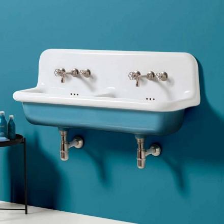 Moderní umyvadlo s dvojitou stěnou nádrže v keramickém provedení Jack