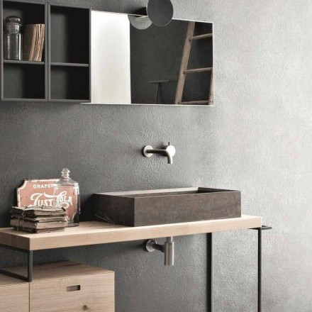 Obdélníkové a moderní umyvadlo na desku v designu Stone - Farartlav3
